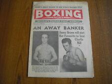 BOXING NEWS - JUNE 21st 1957 - YVON DURELLE, HOGAN BASSEY, CHERIF HAMIA