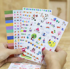 6 sheets lovely cat and letters DIY photo album transparent PVC  diary stickers