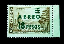 "Argentina 1950""s ?  / Air Mail with Overprint/  Tierra del Fuego/  Unused"