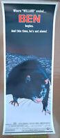 BEN MOVIE POSTER JOSEPH CAMPANELLA Insert Size 14x36 Inch Unfolded 1972 THRILLER