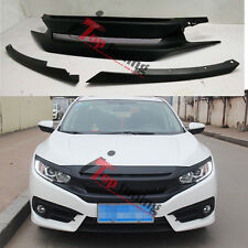 RS SPORT TURBO Type R Front Bumper Grille Grill For Honda Civic 2016 2017