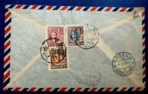 Old Stamp China Cover registered mail - Air Mail Par Avion SHANGHAI CHINA 1948