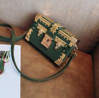 2019 Fashion Womens handbag Small square leather box shoulder bag messenger bags