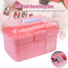 Portable Hand-held Storage Box Organizer For Jewelry Nail Polish Manicure Tool
