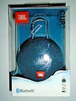 """JBL Clip 3 Portable Waterproof Wireless Bluetooth Speaker - Blue """"NEW"""""""