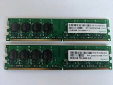 Apacer 2GB kit (2x1GB) PC2-6400 CL5 DDR2 RAM Memory Modules Sticks