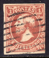 LUXEMBOURG #2 1sg BROWN RED, 1853 IMPERF, VF, USED