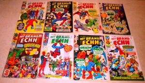 Lot Issues 1-8 of Marvel's Not Brand ECHH Comic Series from late 1960s Stan Lee