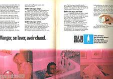 PUBLICITE ADVERTISING 085  1971  GAZ DE FRANCE (2p) le gaz naturel 2