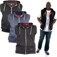 Duke D555 Big King Size Mens Hoodie Casual Sleeveless Hooded Jacket Zip Up Hoody