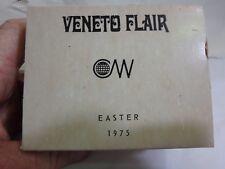 Veneto Flair 1975 numbered painted bone china easter egg- original box and