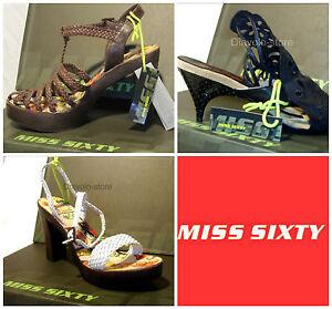 MISS SIXTY Schuhe Sandaletten Pumps Leder NEU
