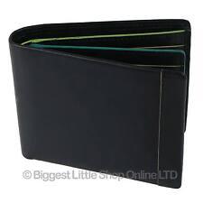 NEW Mens Leather Bi-fold Wallet By Golunski Gift Boxed Multi Coloured Hightlight