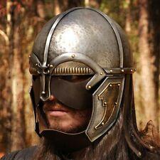 XMAS 18GA Medieval Larp Warrior Viking Vendel Helmet With Leather Guards