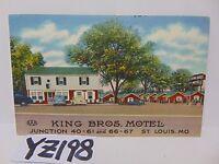 VINTAGE POSTED POSTCARD STAMP 1948 KING BROTHERS BROS MOTEL ST LOUIS MISSOURI MO