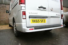 "RENAULT TRAFIC '15 - '18 REAR BUMPER PROTECTOR ""OVER THE EDGE"" FULL LENGTH"