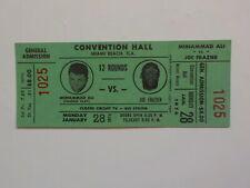 MUHAMMAD ALI vs JOE FRAZIER II Boxing Ticket 1974 Cassius Clay Miami Florida VTG