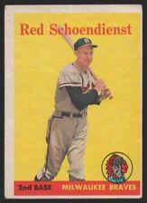 1958 TOPPS #190 RED SCHOENDIENST – VG-EX (4)