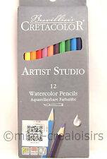 Set crayons aquarelle Artist Studio Line - 12 couleurs assorties - Cretacolor