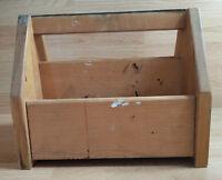 Shoe Shine Box Polishing Tool Kit Portable Wood Tote Handmade