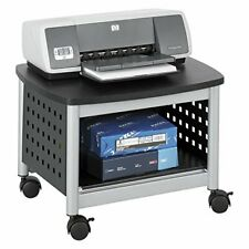 Safco Products Scoot Underdesk Printer Stand Black Powder Coat Finish Swivel