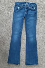 7 FOR ALL MANKIND womens Bootcut Distressed jeans - size 26 x 33 - seven