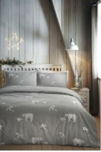 J ROSENTHAL Fusion Christmas Polar Bear Reversible Duvet Bed Set SUPERKING New
