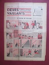 COEURS VAILLANTS N°10 du 8 MARS 1936 HERGE TINTIN EN EXTREME-ORIENT BE