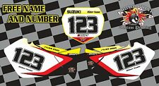 SUZUKI RM 125-250 Numero Backgrounds Decalcomanie Grafiche 2001-2008 RM RMZ MX