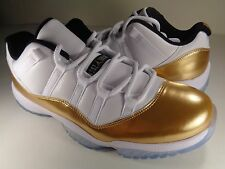 Nike Air Jordan Retro 11 XI Low Closing Ceremony White Gold SZ 9 (528895-103)