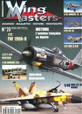 WING MASTERS 20 AdA ALGERIA_BODENPLATTE_VG 33_Ju188_Fw190_FIAT G-91R_Do.335_SPAI