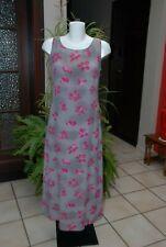 """Robe longue droite d'été""""Mexx""""beige taupe et rose fuchsia Taille 38 comme NEUVE!"""