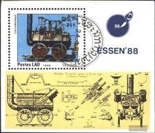 Laos Block123 (kompl.Ausg.) gestempelt 1988 ESSEN `88