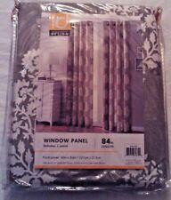 "Intelligent Design Gray Floral Window Panel 84"" Length"