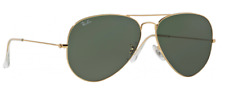 New Ray Ban Aviator RB 3025 001 Metal w/Gold- Green Classic G-15 size 62mm