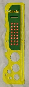 Crayola Stencil with Ruler And Calculator will clip into 3 ring binder (1997)