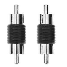 2pcs RCA Male to Male AV Audio Video Plug Jack Extension Cable Connectors