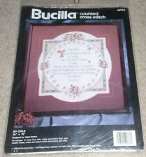 Bucilla Counted Cross Stitch Kit #40733  My Child  1993  New in Sealed Package