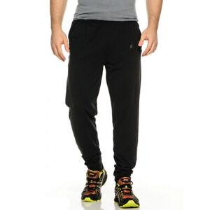 Asics Knit Mens Training Pants Black Sweatpants Gym Workout Tracksuit Bottoms