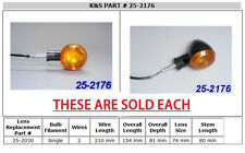 Kawasaki Vulcan DRIFTER VN 800 & 1500 - BLACK REAR TURN SIGNAL / BLINKER LIGHT