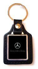 Porte-clés Luxury Acier/Simili Cuir MERCEDES noir