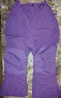 LL Bean~Girls~Squall~Grow-Alongs~Padded~Snow~Ski Pants~Size 4~Waterproof~Purple~