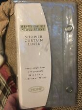 Heavy Gayge Stall Vinyl Shower Curtain Liner W/grommets