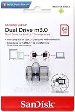 SanDisk 64GB Ultra Dual Drive M3.0 150MB/s micro-USB OTG USB 3.0 Flash Drive 64G