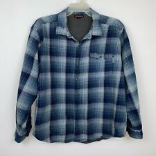 Wolverine Mens Thermal Lined Blue Plaid Flannel Shirt Size XL