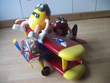 M&M's World Red Yellow  Barnstorming Airplane Candy Dispenser excelent condition