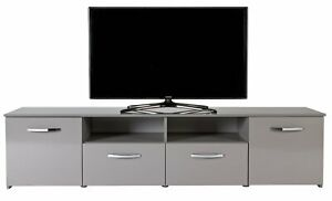 Home Hayward 2 Door TV Unit - Gloss Grey