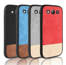 For Samsung Galaxy S3 i9300 Canvas PU Fabric Coated TPU Soft case Back cover