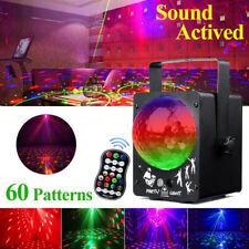 RGB DJ Disco Ball Stage Light Projector 60 Patterns Sound Activated Strobe Light
