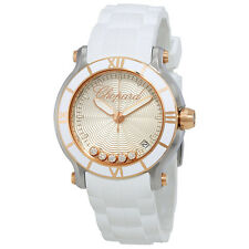 Chopard Happy Sport Silvertone Guilloche Dial Ladies Watch 278551-6002